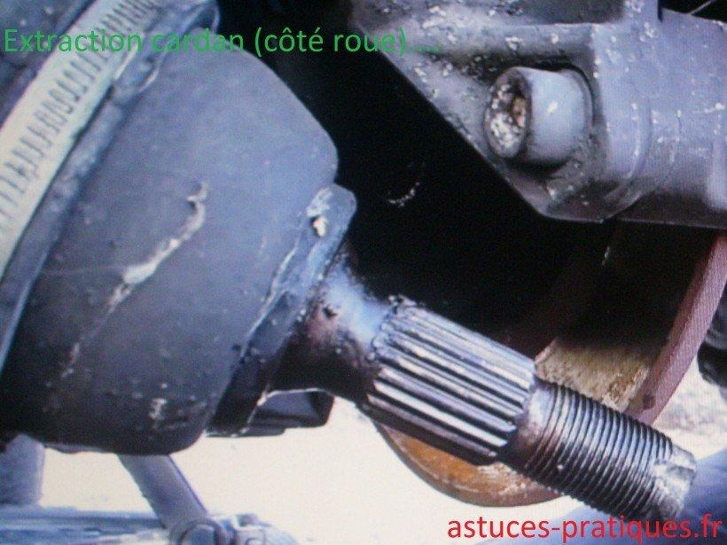 Extraction cardan (côté roue)