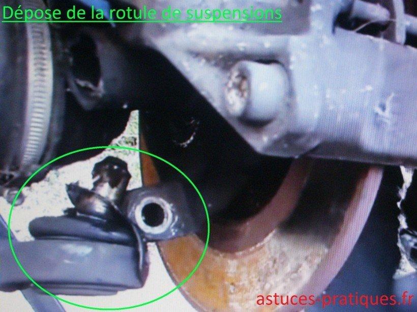 Dépose rotule de suspensions