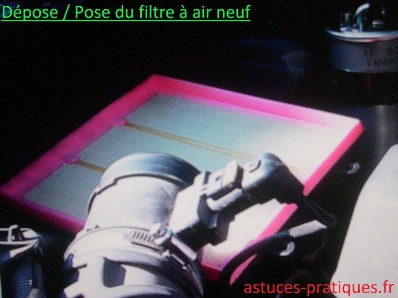 Filtre à air usagé / neuf