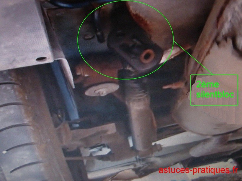 Extraction silent bloc côté gauche