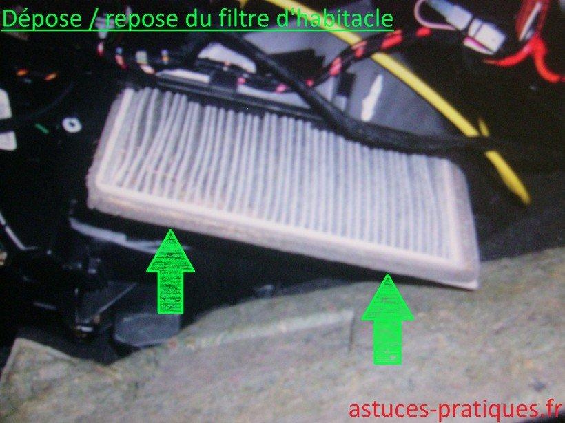 Dépose du filtre usagé