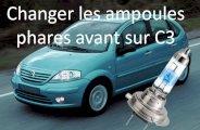 Changement ampoules sur Citroën C3