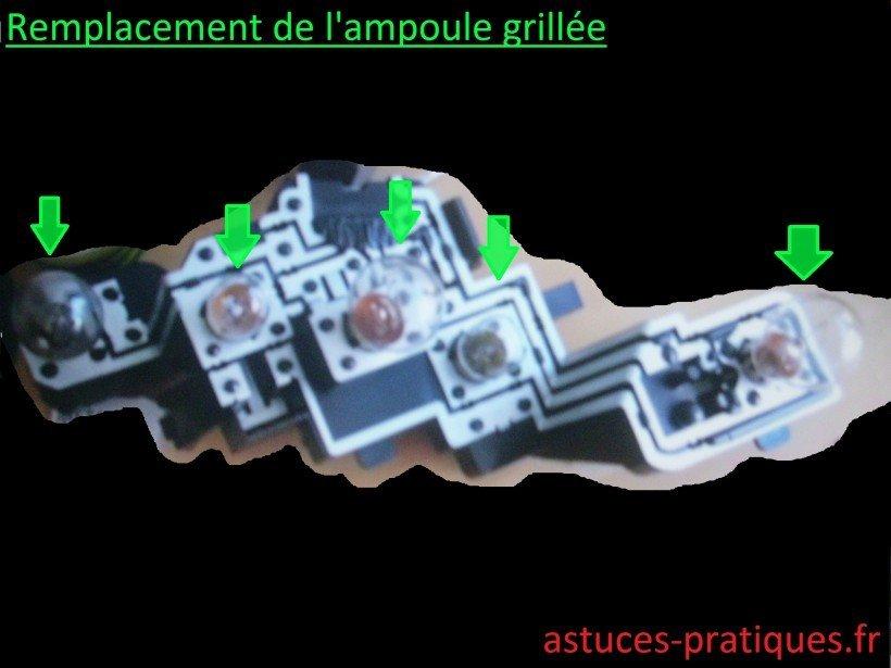 Changement d'ampoule(s)