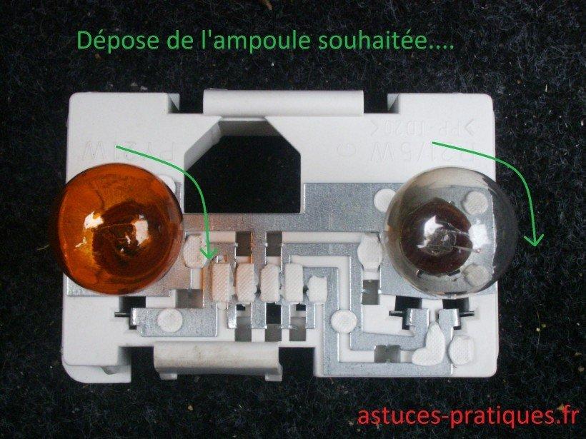 Dépose ampoule(s)
