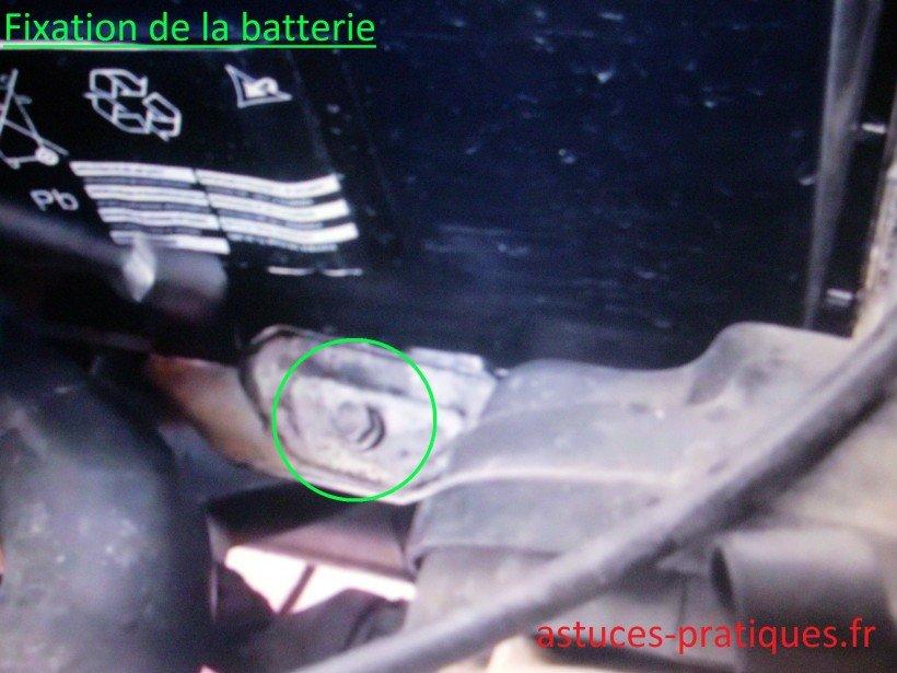 Fixation batterie