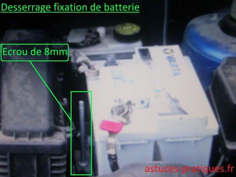 Déverrouillage batterie