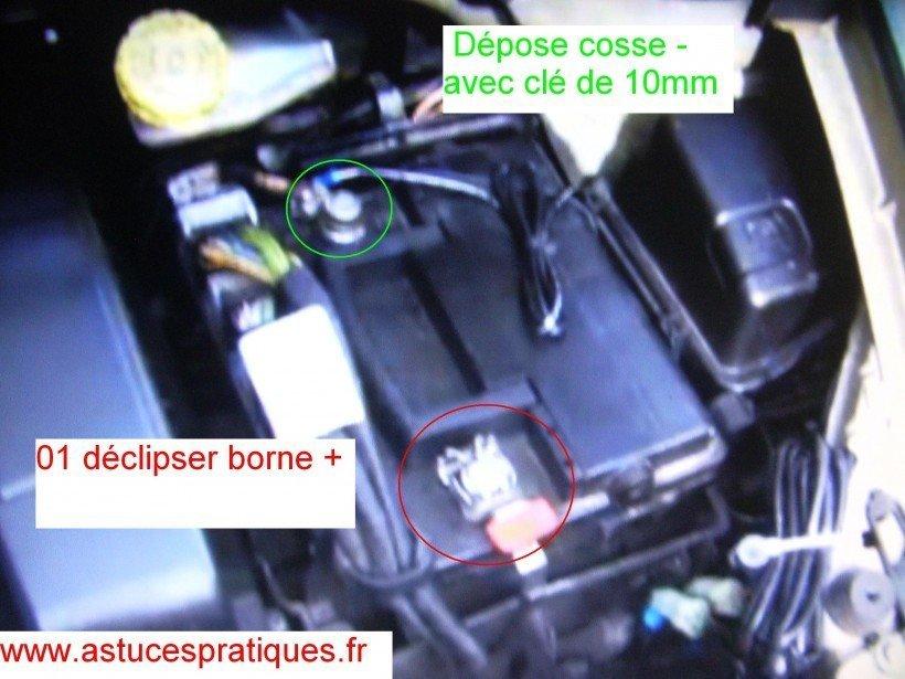 Dépose des cosses batterie