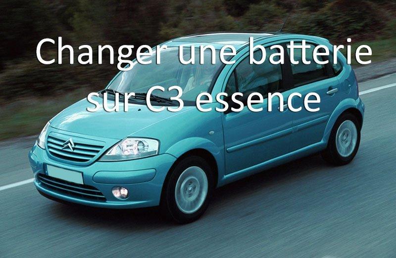 remplacement batterie sur citroen c3 essence