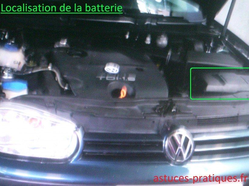 Localisation de la batterie
