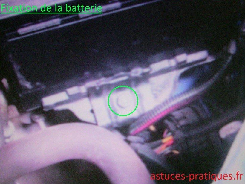 Fixation de la batterie