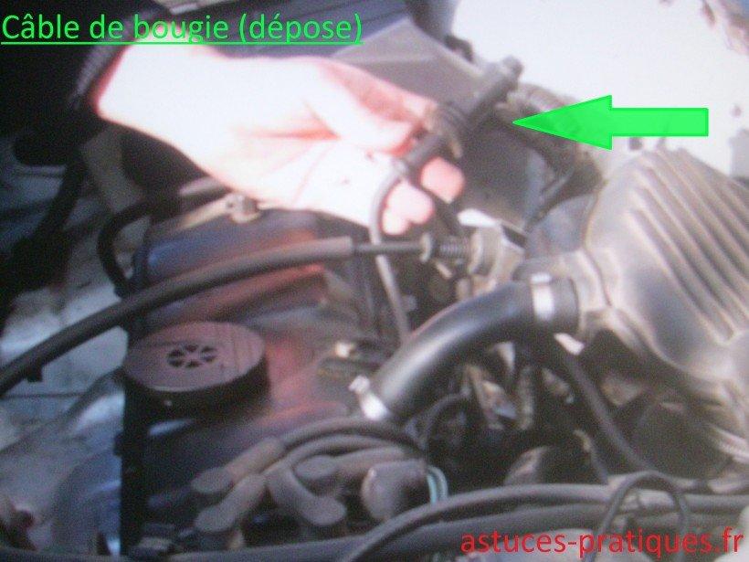 Câble de bougie (déposée)