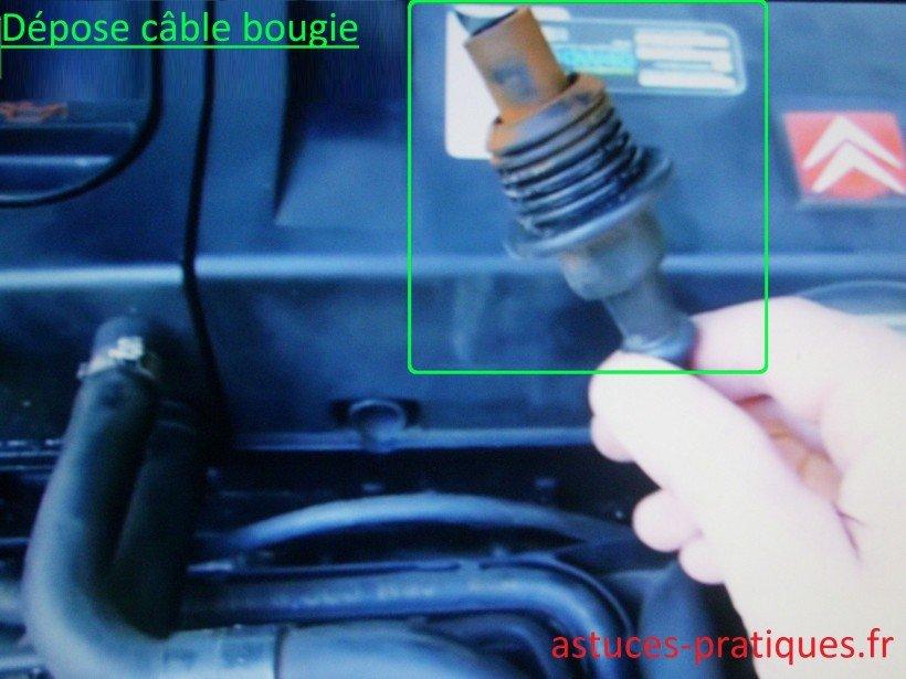 Dépose câble de bougie