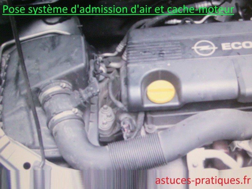 Pose système d'admission d'air et cache-moteur