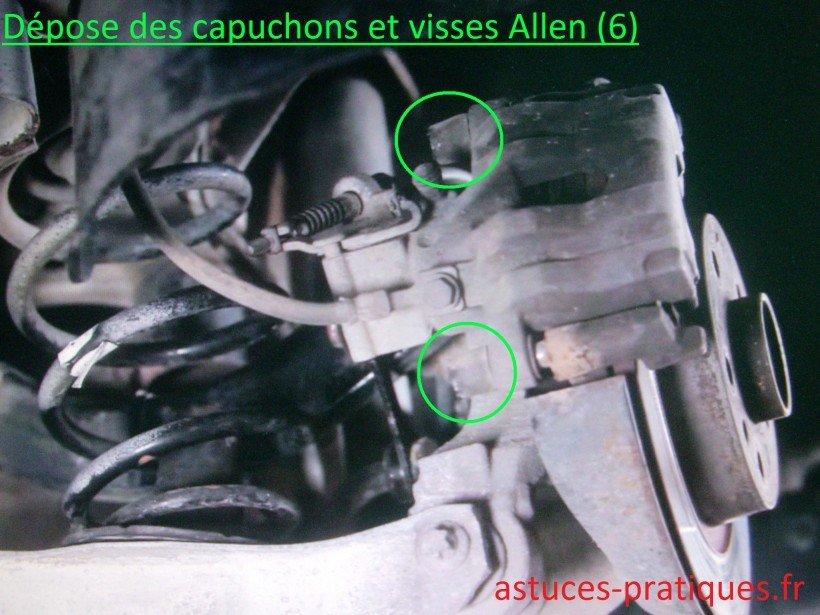Dépose des capuchons et visses Allen (6)