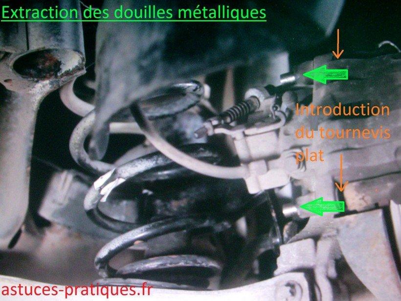 Extraction des douilles métalliques