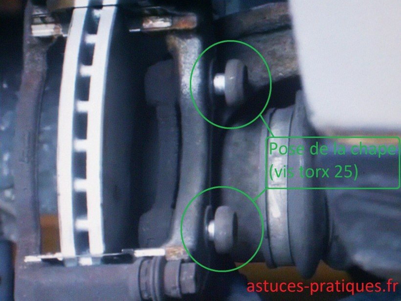 Pose chape + serrage disque