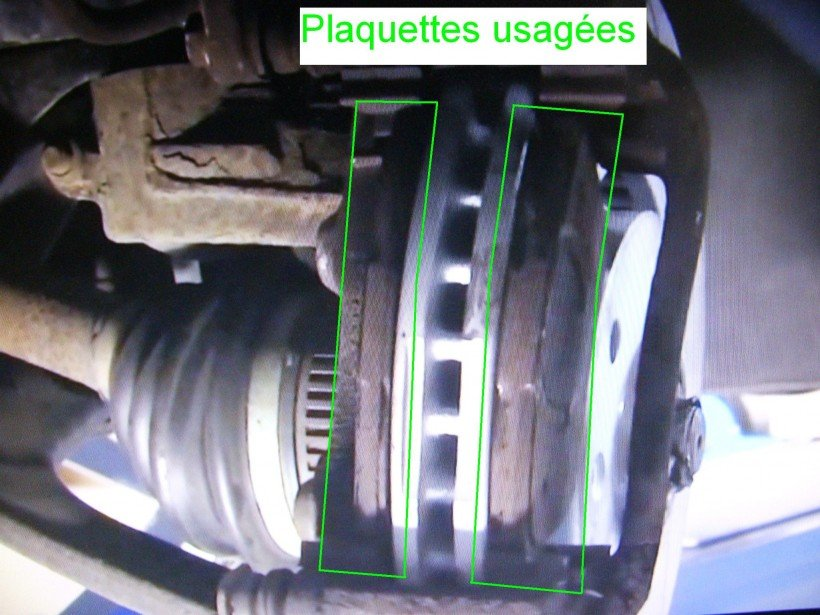 Dépose plaquettes usagées