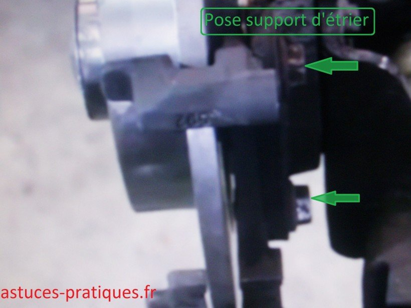 Pose support d'étrier de freins