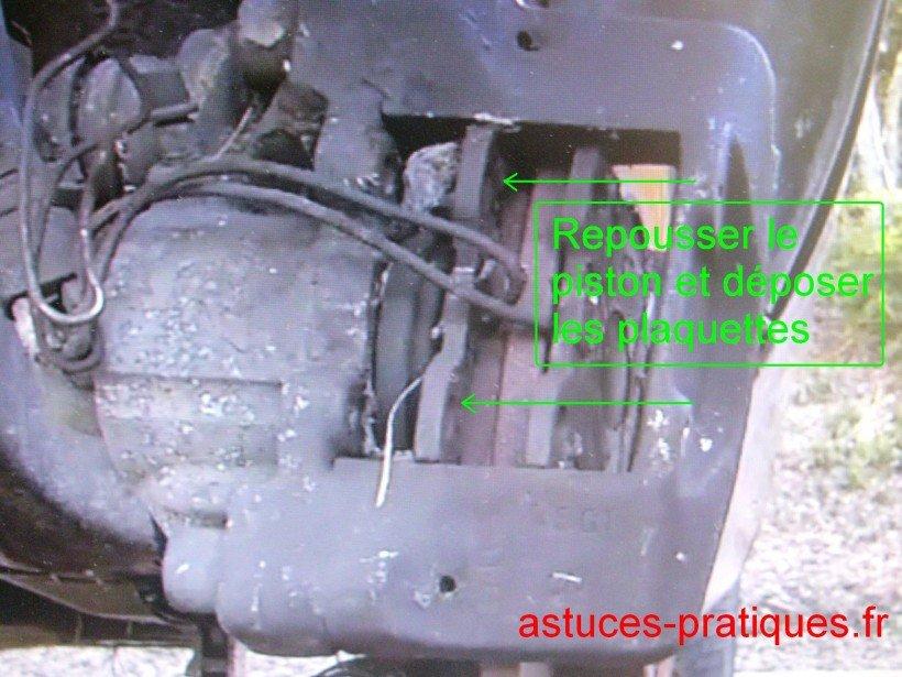 Repousser piston entièrement