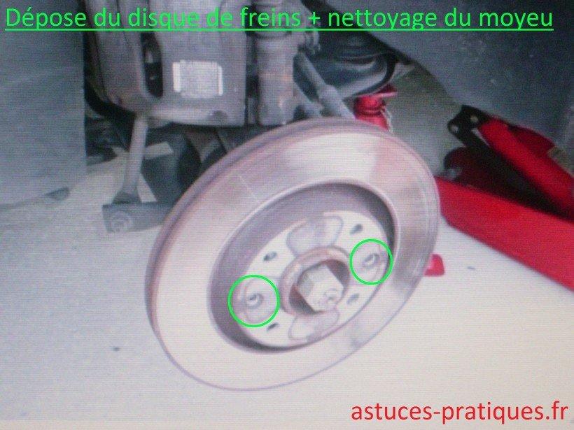 Dépose du disque de freins