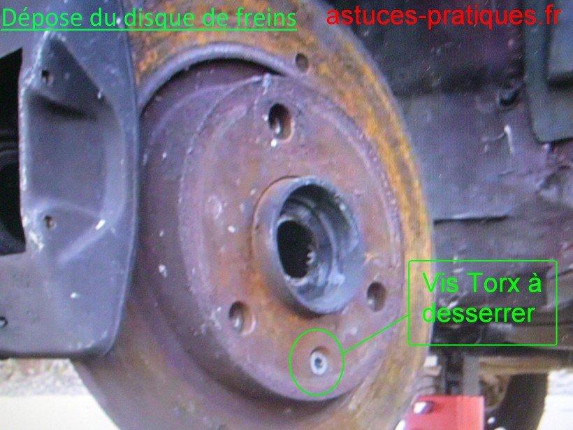 Dépose disque de freins