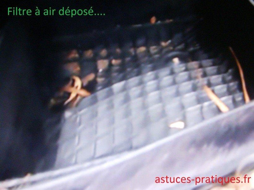 Dépose filtre à air