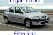 Changer filtre à air sur Logan 1.4i (essence)