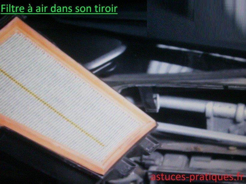 Dépose du filtre à air