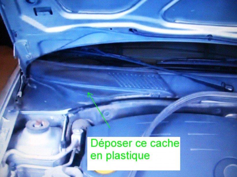 Dépose grand cache plastique 02