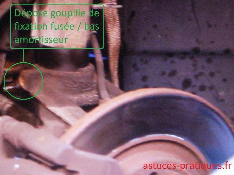 Dépose goupille