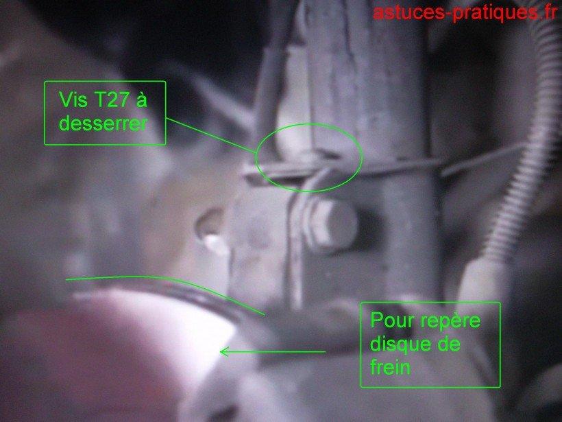 Dépose support flexible frein