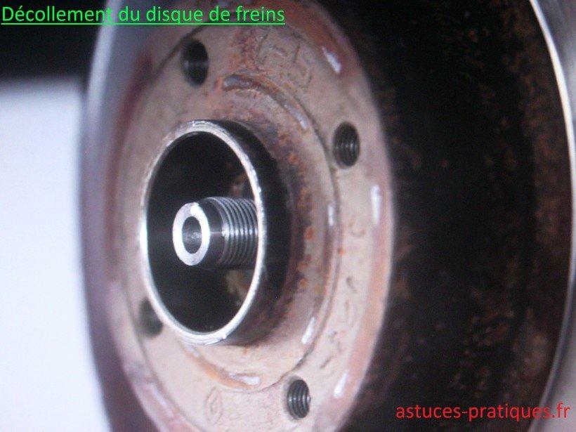 Décollage du disque de freins