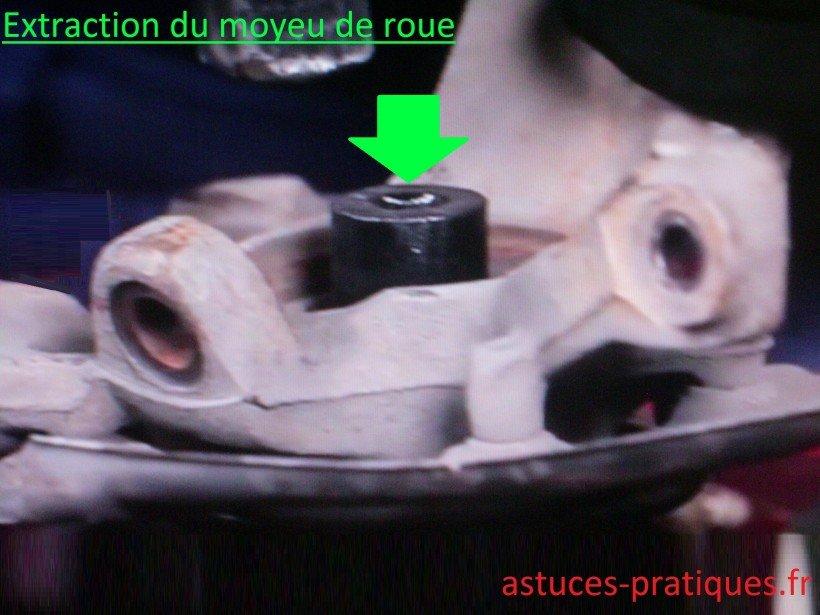 Extraction du moyeu de roue
