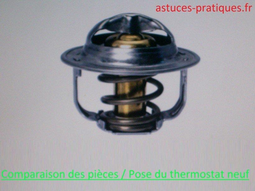 Comparaison des pièces / pose thermostat