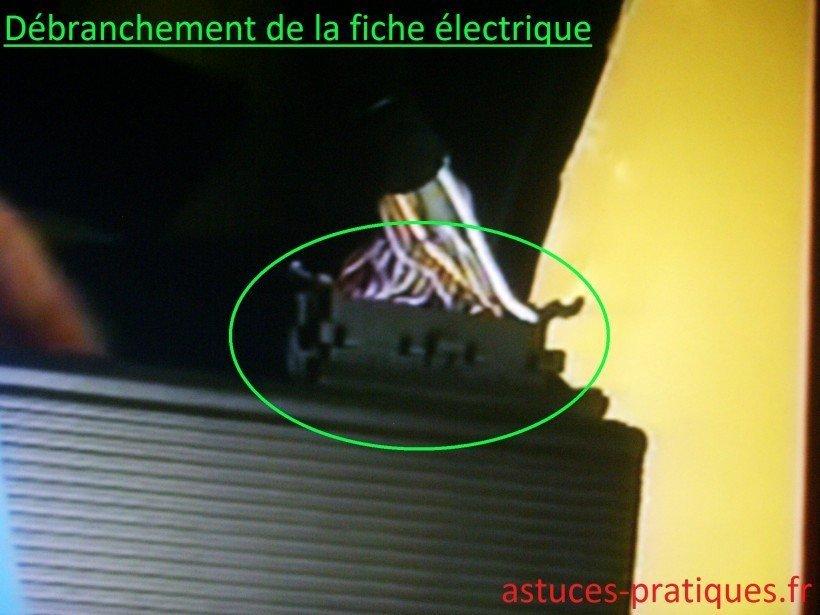 Débranchement de la fiche électrique