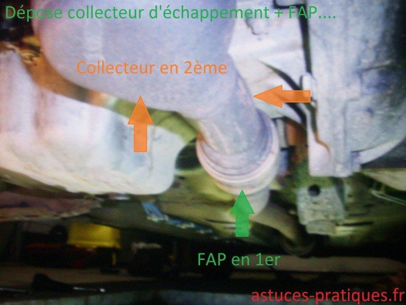 Dépose FAP + collecteur d'échappement