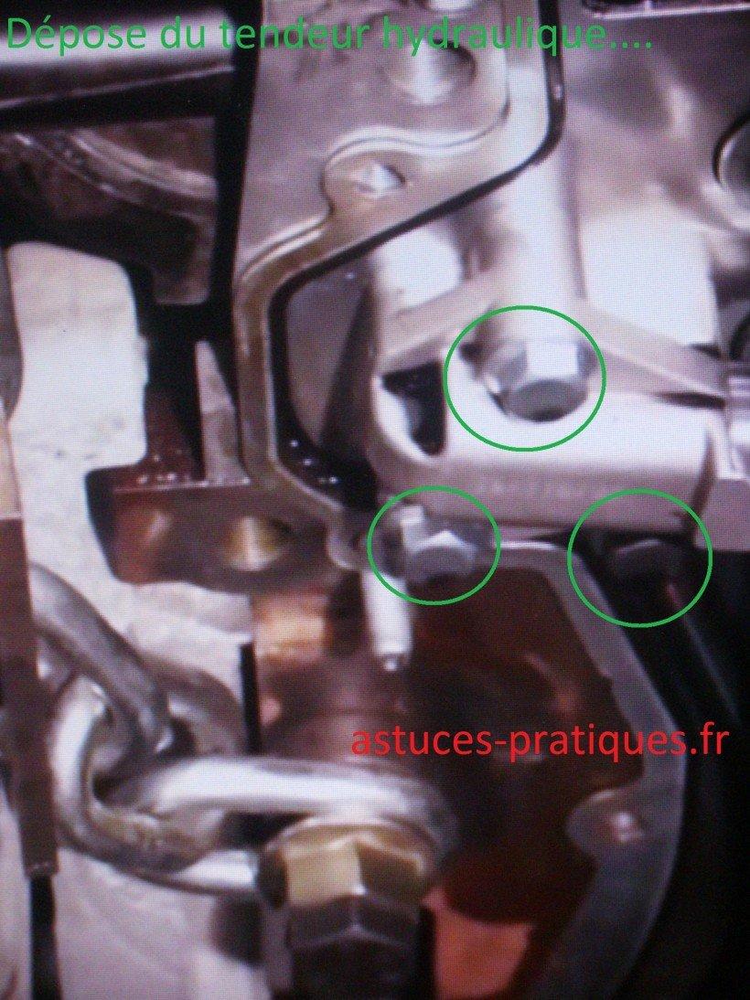 Dépose tendeur hydraulique