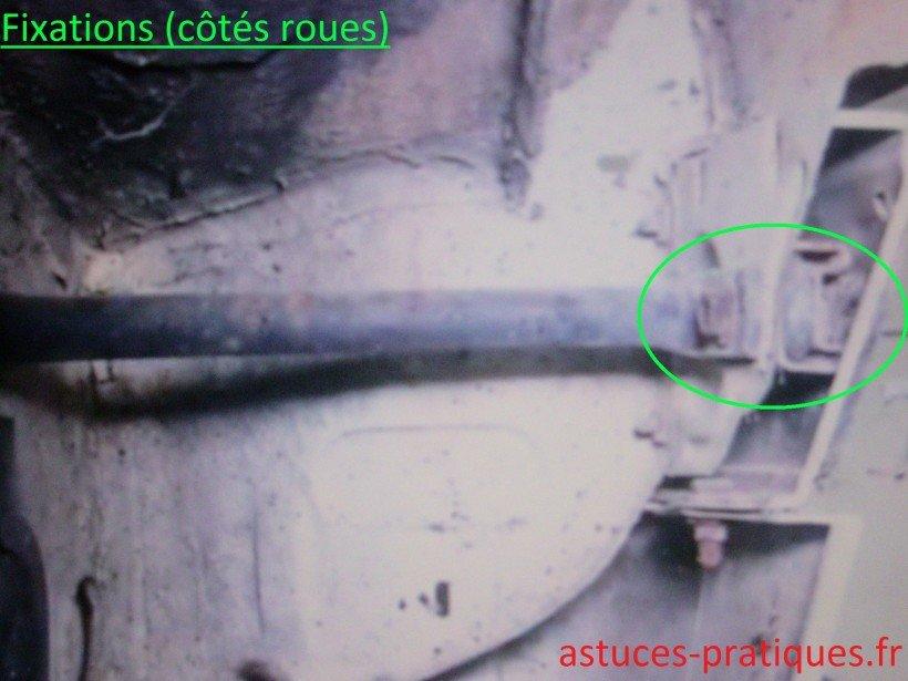 Fixations du pare-chocs (côté roue)