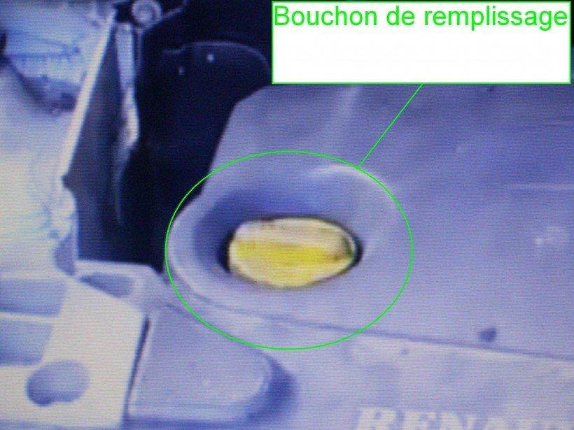 Bouchon remplissage