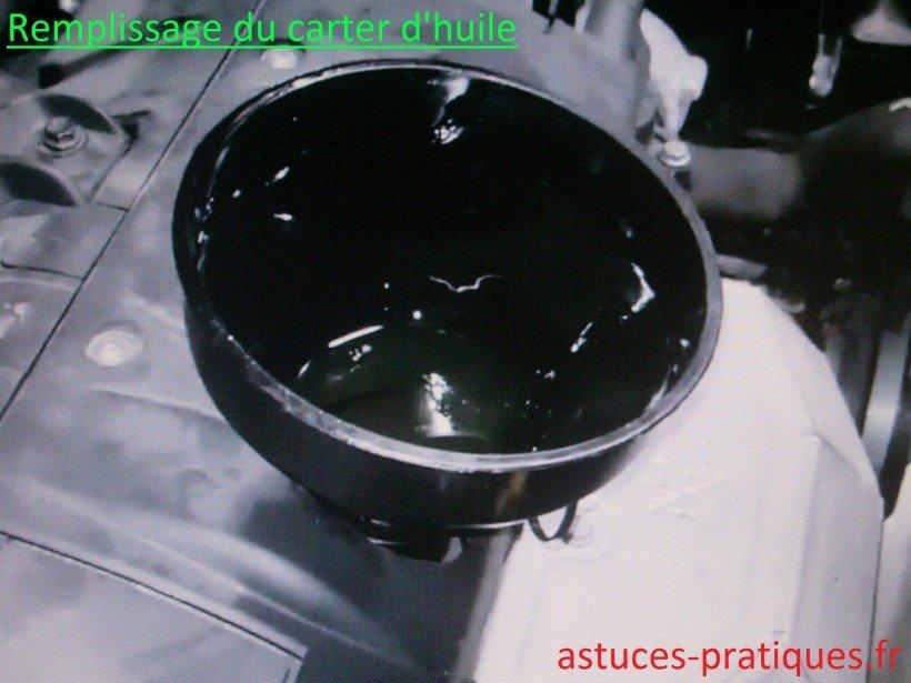Remplissage carter d'huile