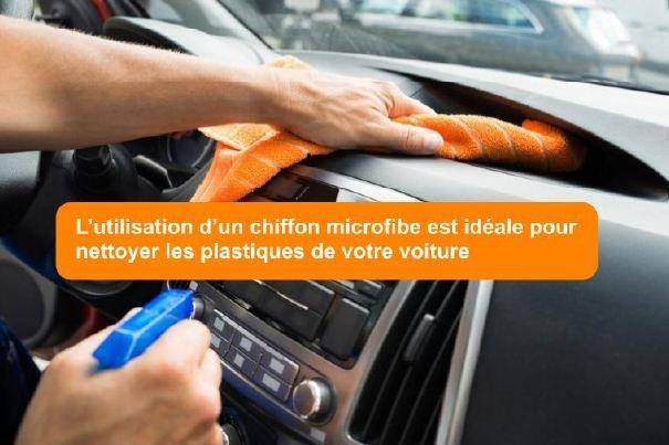 nettoyage intérieur voiture microfibre