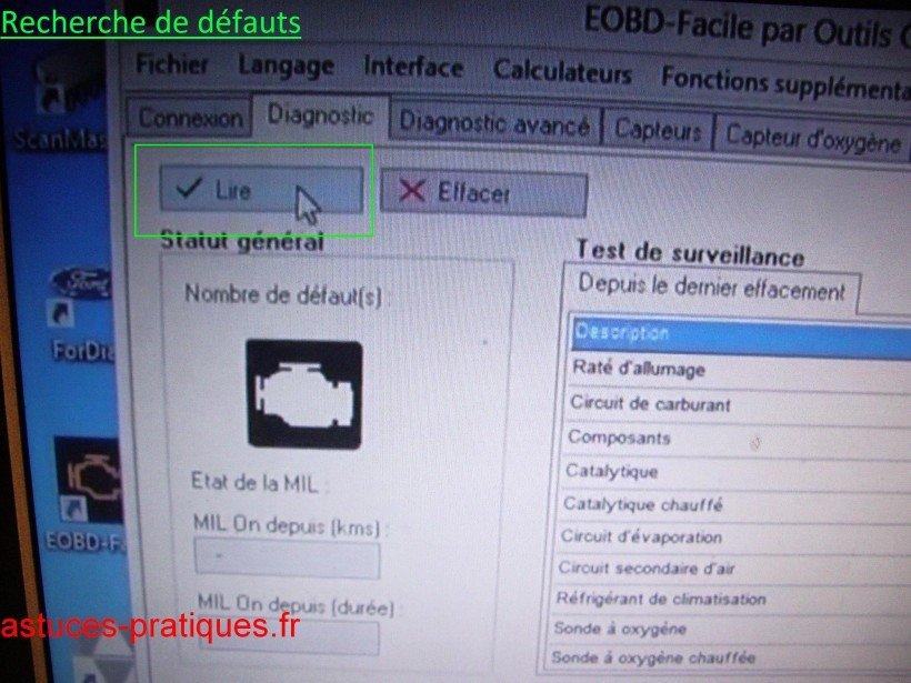 u00c9tablir un diagnostique odb sur 307 hdi