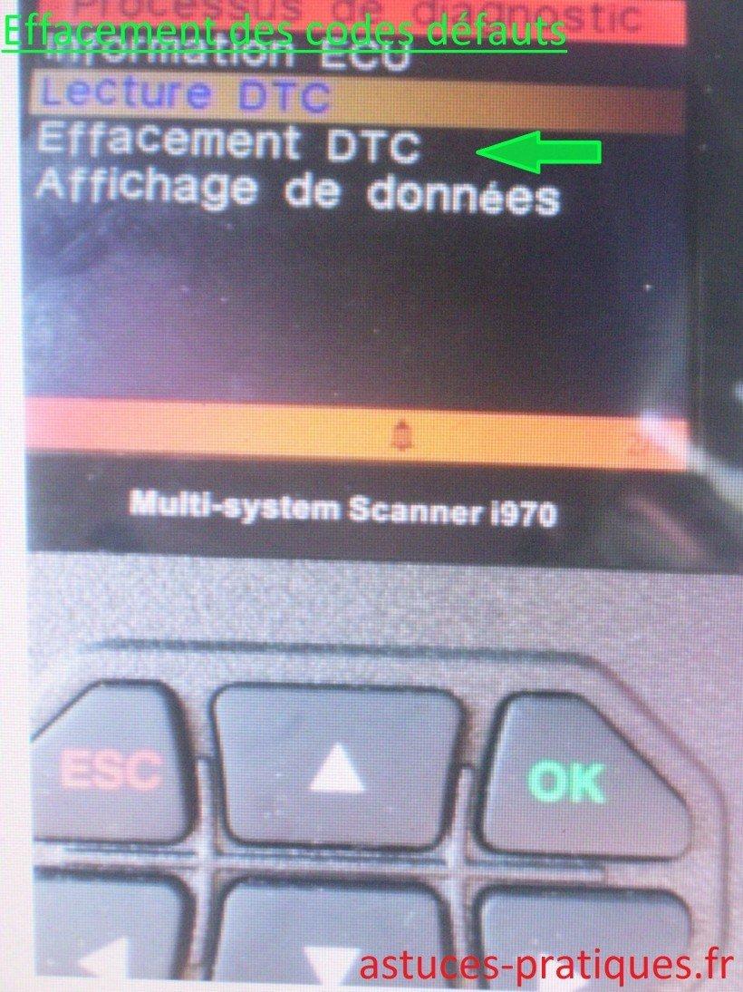 Effacement DTC
