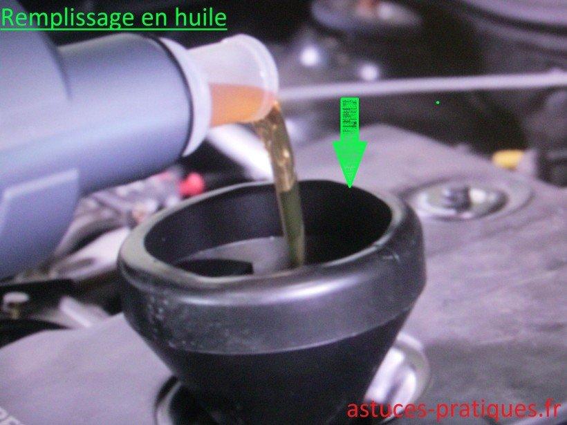 Remplissage en huile