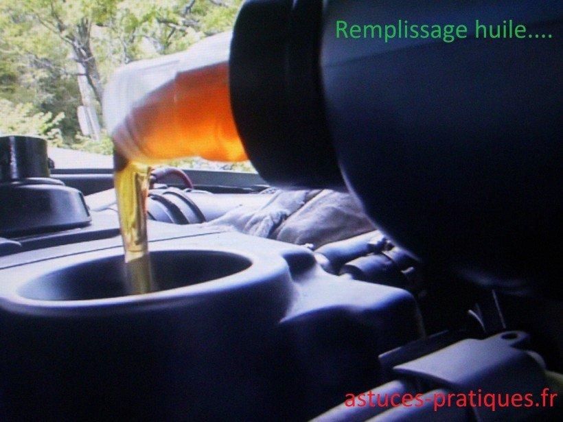 Remplissage en huile moteur