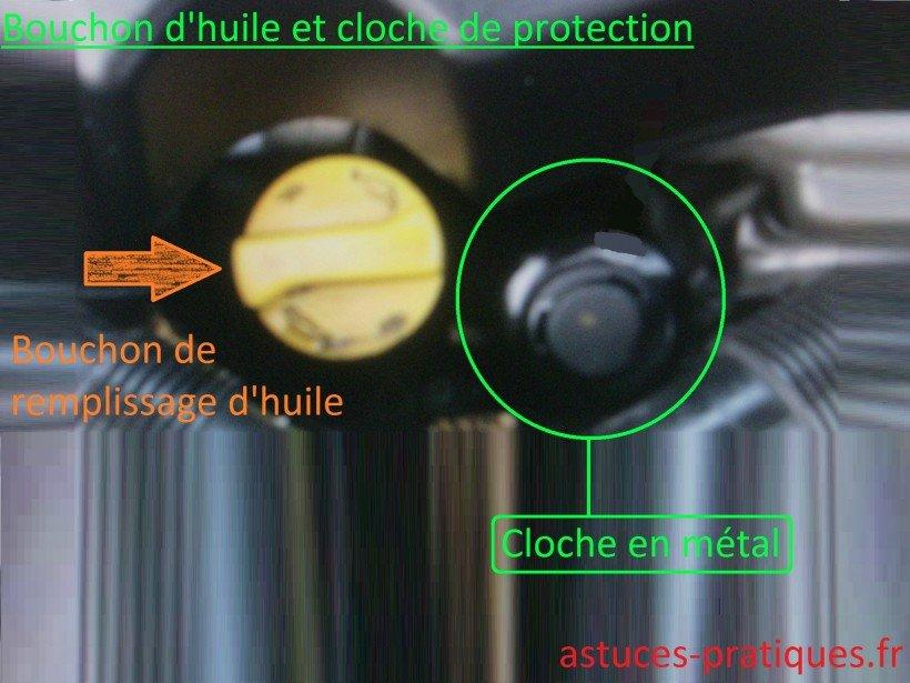 Bouchon d'huile et cloche thermique