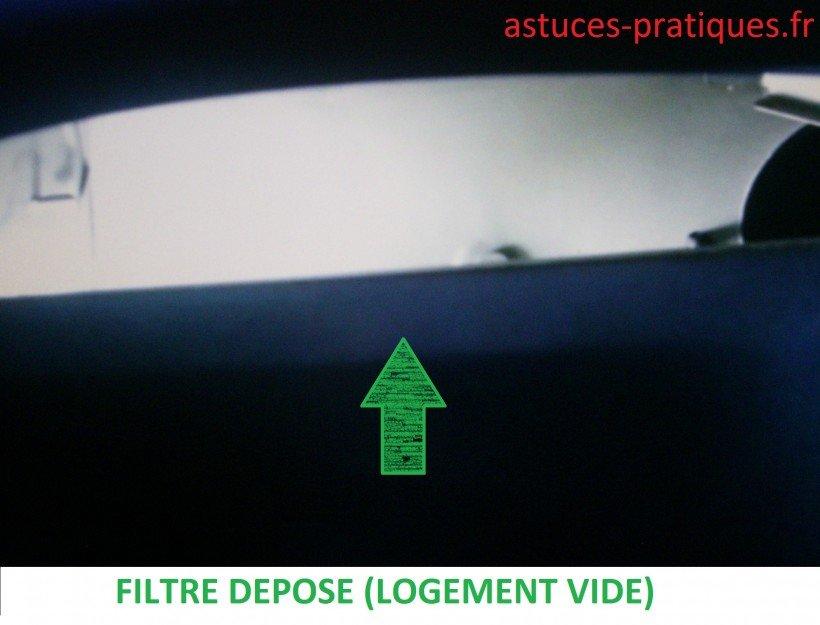 Dépose du filtre
