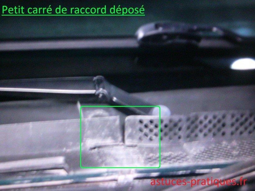 Raccord plastique carré