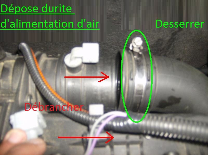 Durite d'alimentation d'air