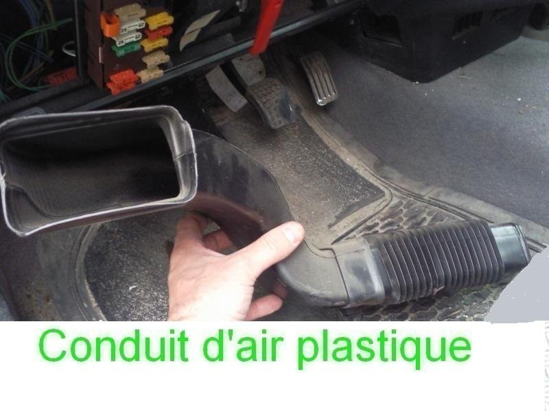 Dépose conduit d'air